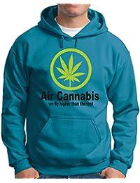 Touchlines Herren Kapuzenpullover Kapuzen Sweatshirt Air Cannabis-We Fly Higher Than the Rest