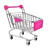 MagiDeal Mini Panier Chariot de Shopping Jouets Enfants 12 x 8,5 x 11 cm Fuchsia