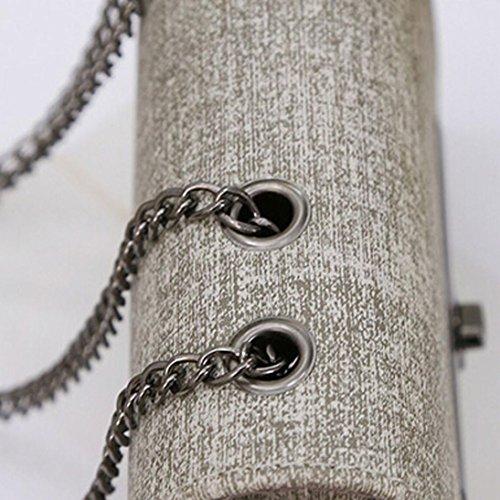 Adatti a donne catena in pelle borsetta Grigio