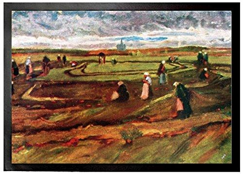 Vincent Van Gogh - Mujeres Arreglando Redes En Las Dunas, 1882 Felpudo