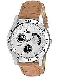 Cubia Cb1241 Cubia Exclusive Brown Leather Analog Watch For Mens & Boys