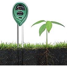 Zedela 3-en-1 Medidor de Humedad del Suelo con la Hhumedad, la luz y la Función de la Prueba de PH, Adecuados para ácido Prueba de pH, la Humedad y la luz del sol para la Horticultura, la Agricultura-002