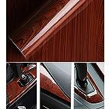 Grain de bois brillant Autocollant de voiture Wrap autocollants meubles de papier peint autocollant 124*30cm & # nitrure; 121,9x 30,5cm et Carbide PCB; 124cm*30cm