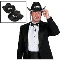 Cappello da Cowboy nero adulto sposo