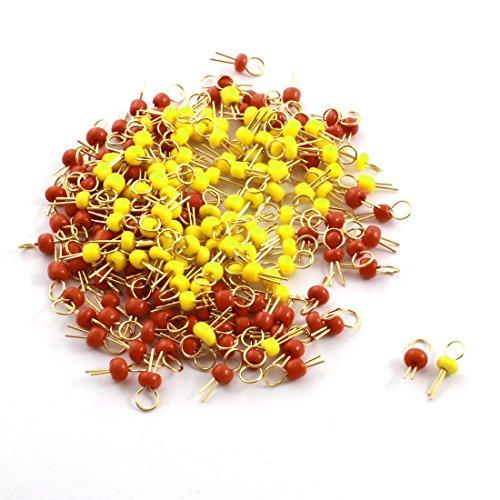 Sourcingmap a14082200ux0661 - 200pcs giallo terminali pin prova pcb tono oro perline di ceramica rosso - Oro Prova