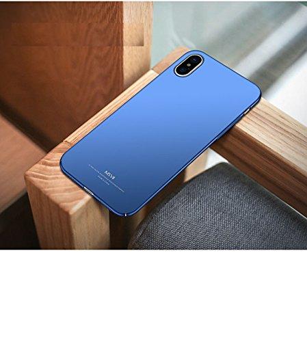 "Yooky iPhone X / iPhone 10 Case Fall Hülle , iphone X / iPhone 10 Cover Tasche , Scratch Resistant Ultra-Thin Slim Hard PC Premium Schutzhülle Shell für 5.8 ""Apple iPhone X / iPhone 10 Blue"