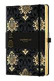 Castelli Milano COPPER & GOLD Baroque Gold Taccuino 13x21 cm Pagina a Righe Copertina Rigida Colore Nero 224 Pag