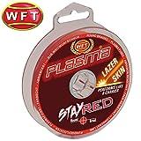 WFT Plasma Stay Red Lazer Skin 150m - Geflochtene Angelschnur zum Spinnfischen & Meeresangeln,...