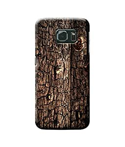 Be Awara Burnt Wood Texture Printed Back Case Cover for Samsung Galaxy S6 Edge