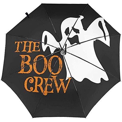 The Boob Crew Bedruckter winddichter Reiseschirm Automatikschirme - winddichtes, verstärktes Verdeck, automatisches Öffnen/Schließen