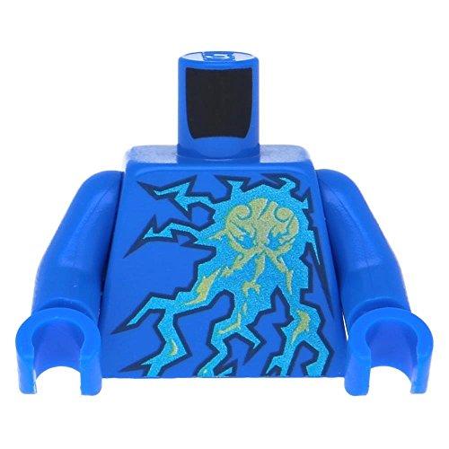 Preisvergleich Produktbild 5 x LEGO® Oberkörper Ninjago Blitz Energie, Aufdruck (NRG Jay)