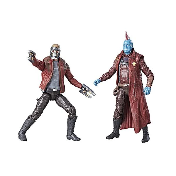 "Marvel Legends Guardianes de la Galaxia 3,75 ""Star Lord & Yondu Figura de acción 2 Unidades 1"