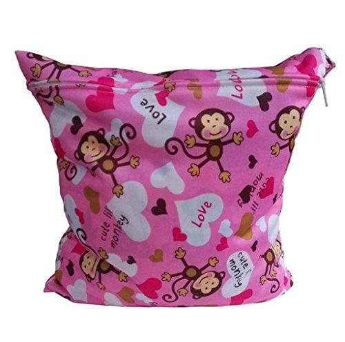 Koly La bolsa de orina bebé impermeable especial sola cremallera bolsa de almacenamiento, 11 colores,H