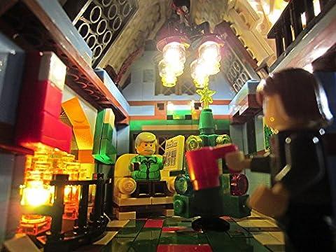 Brickstuff Pico LED Éclairage Effet Lumière Démarreur Trousse Starter Kit pour Lego Modèle, Maisons de Poupées et Lemax bâtiments, 12 effets de lumière - Flash / Vaciller / Pulse / Lueur / Strobe / Laser - TREE03