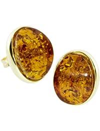 In Collections 1000163281L100 - Pendientes de mujer de oro amarillo (8k) con ámbar