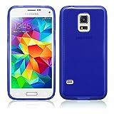 TBOC Blau Gel TPU Hülle für Samsung Galaxy S5 Mini Ultradünn Flexibel Silikonhülle