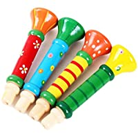 JUNGEN Trumpet Toys Whistles Wooden Speakers Toys Sound Toys in random Colour 1-pack