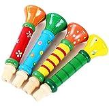 WDOIT Baby Kinder Holz Play Whistle Instrument klein Lautsprecher Spielzeug Infant Puzzle Early Bildung (zufällige Farbe)