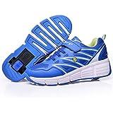 Zapatillas con ruedas automáticas para niños - Transpirables - Mod. 101 - Azul - Varias tallas