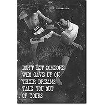 """Muay Thai Motivierungs Foto Poster 05 """"Don't let someone..."""" Hochglanz Kunstdruck Geschenkartikel Inspirierender motiviernder Zitat MMA Thai Thailand - Größe: 12 x 8 Inches (30x20cm)"""