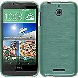 PhoneNatic Case für HTC Desire 510 Hülle Silikon grün, brushed + 2 Schutzfolien