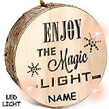 alles-meine.de GmbH 3 Stück _ Licht & Deko - Holzstämme - LED -  Enjoy The Magic Light  - Incl. ..