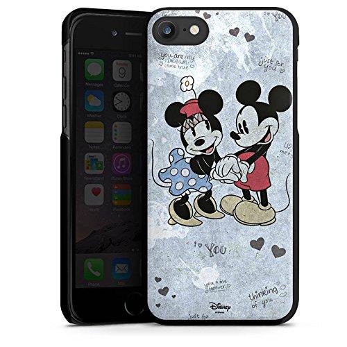 Apple iPhone X Silikon Hülle Case Schutzhülle Disney love Merchandise Geschenke Hard Case schwarz