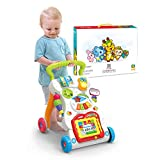 Su Trolley per Bambini Girello Giocattolo 0-3 Anni Educazione Precoce Puzzle Multi-Funzione Interazione Genitore-Figlio