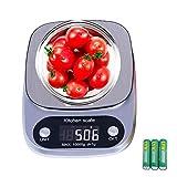 GOAMZ Digitale Küchenwaage 10kg/1g Briefwaage,Electronische Waage,Digitalwaage Professionelle Waage,mit Tara-Funktion LCD-Display und Auto-Off-Funktion (Batterien enthalten)