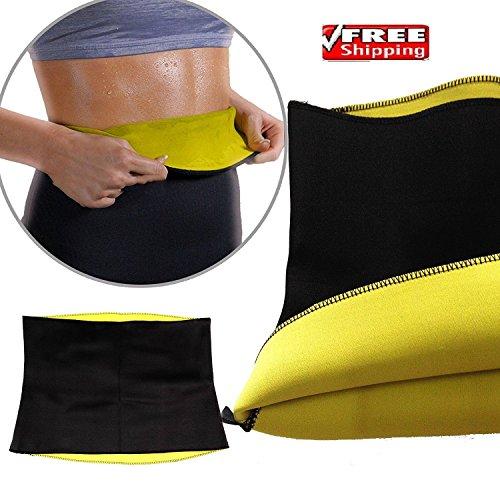 Hot Shapers Cinturón de Sudor – Caliente – Adelgazamiento y Fitness Soporte de estómago Neopreno Body Shaper Wrap Yoga Fitness Firme corsé Talla S a XXL