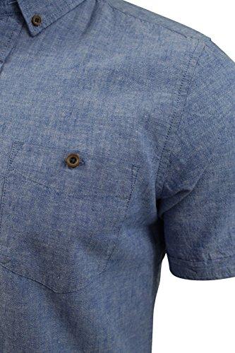Chemise en lin à manches courtes 'Morales' par Tokyo Laundry pour homme Bleu