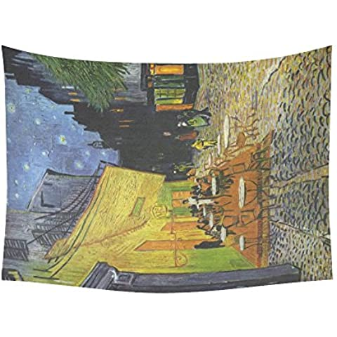 artsadd da parete Cafe Terrace at Night van Gogh cotone e lino da parete 80x 60