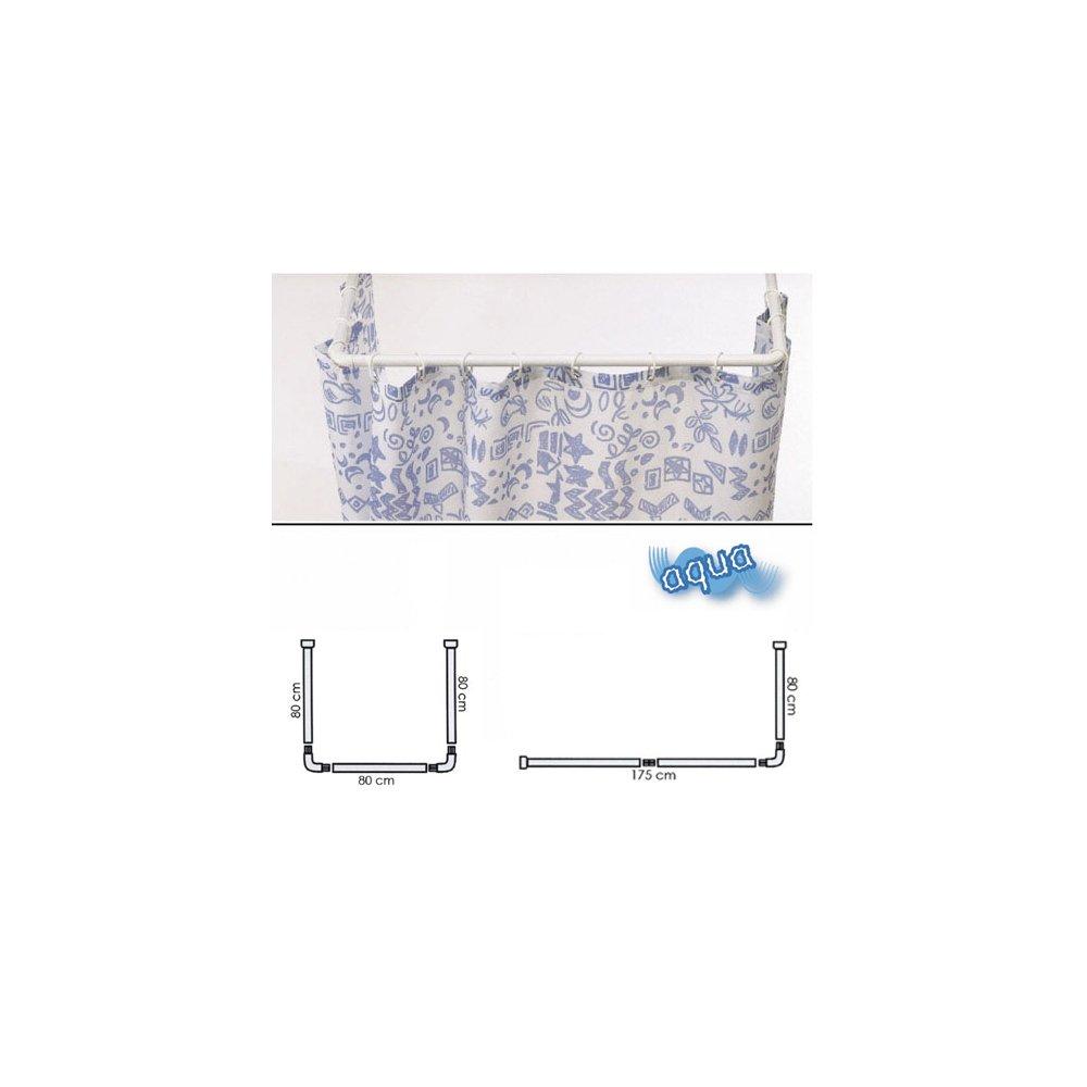 Nuevos modernos Cortinas de bano ducha extra larga con ganchos 180 x 200 cm Sentidos Internos R TOOGOO