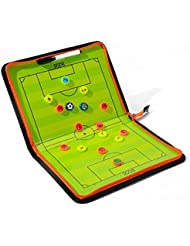 Katech Football Tactics Stratégie Tableau Portable Soccer Coach Tableau magnétique Lot de bonne Football équipement d'entraînement