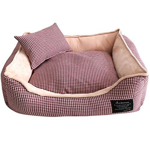 LOVEPET Pet Nest Herbst und Winter Warm Hundebett Voll waschbar Kleine mittlere und große Hunde gelten (Hund Mittlerer Käfig)