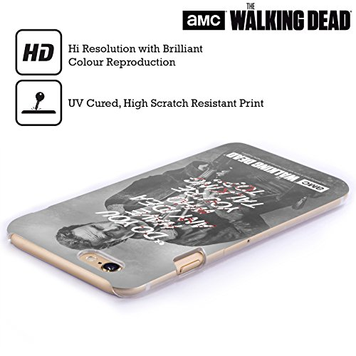 Ufficiale AMC The Walking Dead Rick Questions Citazioni Cover Retro Rigida per Apple iPhone 6 / 6s Rick Talk