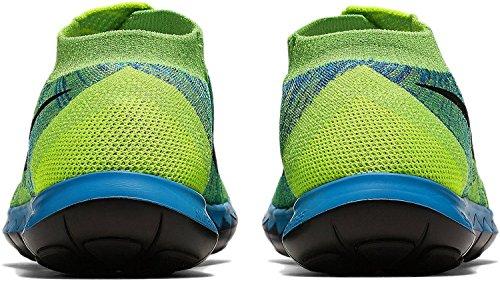Nike Herren Free 3.0 Flyknit Laufschuhe Grün / Schwarz / Blau (Volt / Schwarz-Bl-Grn Lagoon Strk)