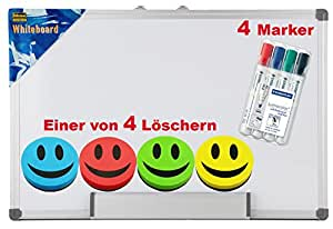 idena 568019 whiteboard alu rahmen ca 40 x 60 cm mit stiftablage spar set inkl marker. Black Bedroom Furniture Sets. Home Design Ideas