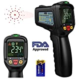 Infrared Thermometer, Dr.meter Non-Contact Laser Thermometer FDA Approved Temperature Gun -58°F - 1022°F for Cooking BBQ Automotive Industrial with HD Backlit LCD Display, Battery Included