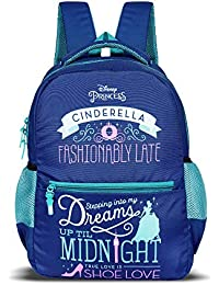 Priority Princess Cinderella Royal Blue Casual Backpack|Kid's School Bag