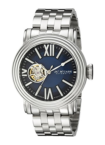 James McCabe Men's JM-1018-33 Victory Analog Display Japanese Automatic Silver Watch