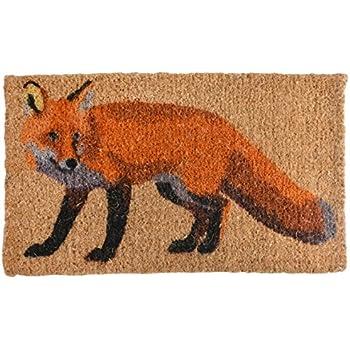 fallen fruits fox printed coir doormat