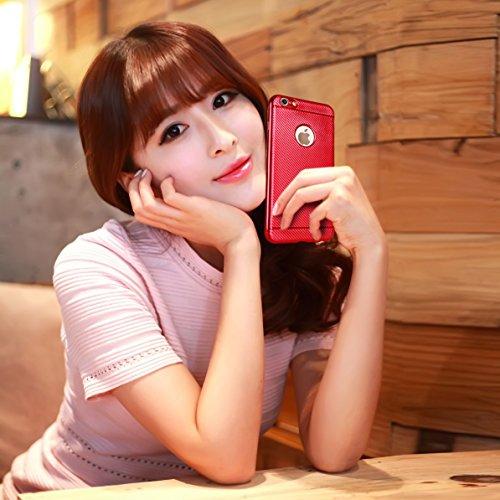 iPhone 6s Silikonhülle,iPhone 6 Hülle,xinyunew [2.5D Stahlfolie Displayschutzfolie] Anti-Fingerabdruck,Anti-Scratch,Styliche Hochwertige Extra Dünne soft Schutzhülle Schale Cover Case Hardcase Tasche  Rot
