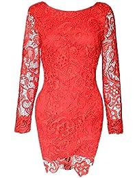 910385b6104bd Las Mujeres Vestidos De Fiesta para Bodas Encaje Splice Chiffon Vestido De  Novia Corto De Noche