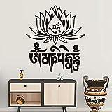 Jixiaosheng Beliebte YogaLotus Wandaufkleber Home Decor Vinyl Günstige KunstS Abnehmbare Pvc Haus Dekor Schlafzimmer