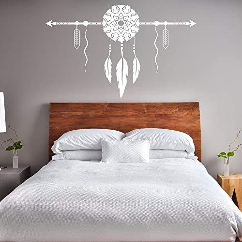 Geiqianjiumai Pegatinas de Pared de Estilo Bohemio Dormitorio decoración del hogar atrapasueños atrapasueños con Pared de Vinilo Arte de la Pared Mural Creativo 85.5 cm x 54 cm