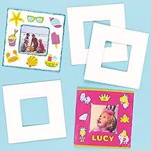 Baker Ross Marcos de fotos de cartulina blanca rígida (Paquete de 10) Para pintar