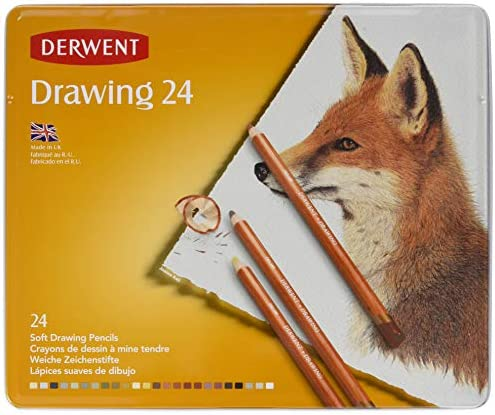 Derwent Derwent Derwent Drawing Matite Coloreeate in Scatola di Metallo (Confezione da 24) | In vendita  | Beautiful  | Un equilibrio tra robustezza e durezza  59be0c