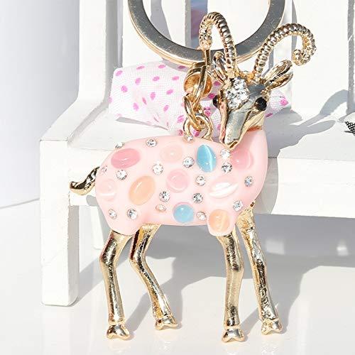 Personalisierte Custom Made Kyasu Schlüsselanhänger Personalisierte Schlüsselanhänger Schaf Anhänger Schlüsselbund Handtaschen Ornamente Cute Pink Girl Heart