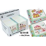 DonRegaloWeb - Display de 24 paquetes con 20 servilletas de papel de triple capa decoradas con motivos pasteleros y multiples colores